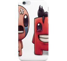 Isaac and Super Meat Boy iPhone Case/Skin