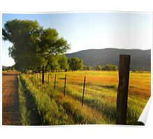 A Field at Dawn in Heber Valley, Utah. Poster