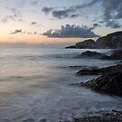 Combe Martin at dusk by fotoholic