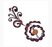 Henna Tattoo Flowering Heart One Piece - Short Sleeve
