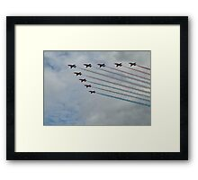 Red Arrows 8 Framed Print