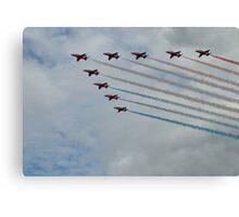 Red Arrows 8 Canvas Print
