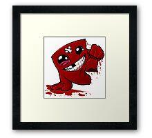 Funny Super Meat Boy Framed Print