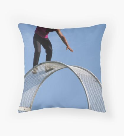 Fearless and Blindfolded Throw Pillow