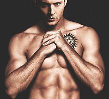 Jensen Ackles Anti-Possession Tattoo by kokomozo