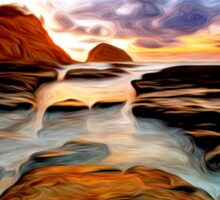 Tide Pool Oil Painting Sticker