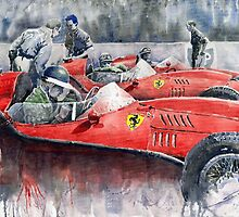 Ferrari Dino 246 F1 1958 Mike Hawthorn French GP by Yuriy Shevchuk