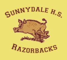 Sunnydale H.S. Razorbacks Kids Clothes
