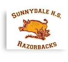 Sunnydale H.S. Razorbacks Canvas Print