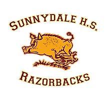 Sunnydale H.S. Razorbacks Photographic Print