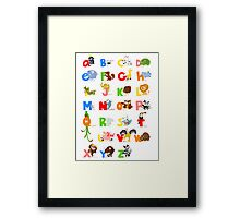 ABC (english) Framed Print