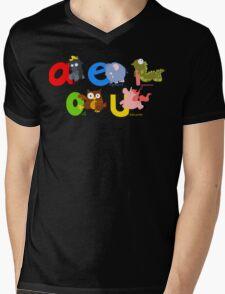 vowels Mens V-Neck T-Shirt