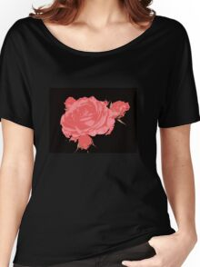 Night Gardening - Posterized Rose Burst Women's Relaxed Fit T-Shirt