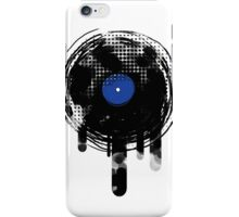 Melting Vinyl Records Vintage Blue Art iPhone Case/Skin