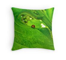 Surfing the Green Leaf Throw Pillow