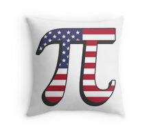 The American Pi Throw Pillow