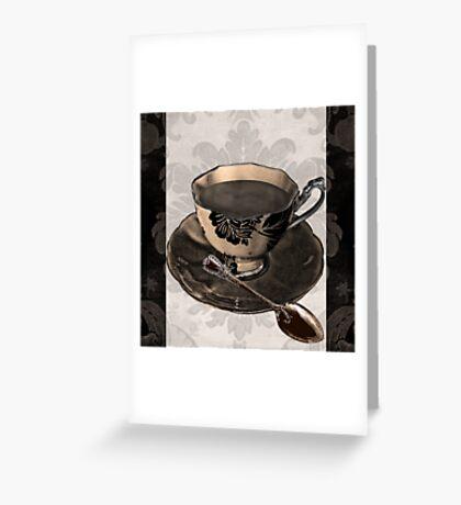Vintage Cafe IV Greeting Card