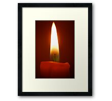 Candle Flame Framed Print