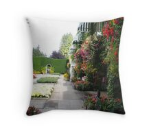 An Italian Garden. Throw Pillow
