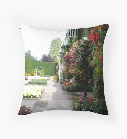 An Italian Garden. Throw Pillow
