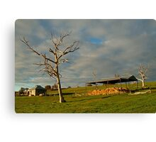 Rowsely Valley Farm Canvas Print