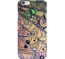 Stacked and Tangled Fan in Orange iPhone Case/Skin