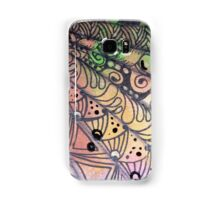 Stacked and Tangled Fan in Orange Samsung Galaxy Case/Skin
