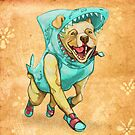 Shark Dog by CarrieScribbles