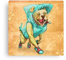 Shark Dog Canvas Print