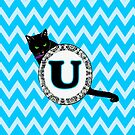 U Cat Chevron Monogram by gretzky