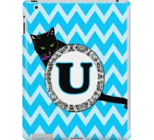 U Cat Chevron Monogram iPad Case/Skin