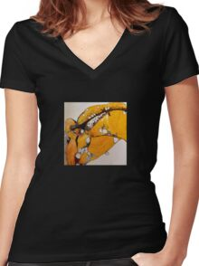 shuck me open  Women's Fitted V-Neck T-Shirt