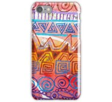 Geometric Tangles (Multicolor Distress Paint) iPhone Case/Skin