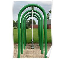 Green symmetry on a playground Poster