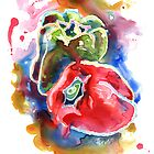 Bell Peppers I by Yevgenia Watts