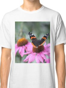Butterfly on a flower Classic T-Shirt