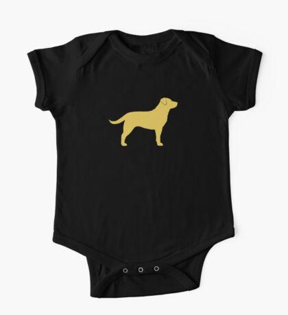 Yellow Labrador Retriever Silhouette(s) One Piece - Short Sleeve