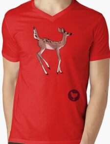 Max's Deer Shirt (High-Res)-- With Chicken Mens V-Neck T-Shirt