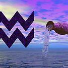 Aquarius (Signs of the Zodiac Series) by Sandra Bauser Digital Art