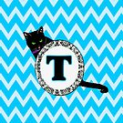 T  Cat Chevron Monogram by gretzky