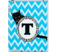 T  Cat Chevron Monogram iPad Case/Skin