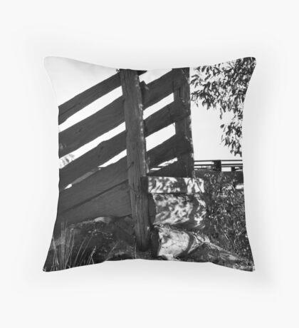 race against time, rutherglen, australia Throw Pillow