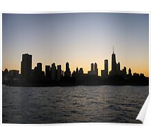 Chicago-Sunset Over the Windy City Poster