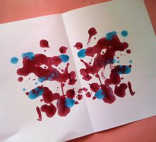 inkblot w nailpolish by georgiegirl