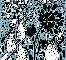Flower Shower in Blue by aehart