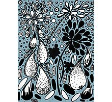 Flower Shower in Blue Photographic Print