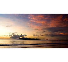 Sunrise over Dunk Island with clouds Photographic Print