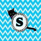 S Cat Chevron Monogram by gretzky