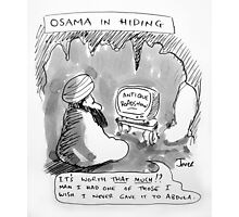osama in hiding Photographic Print