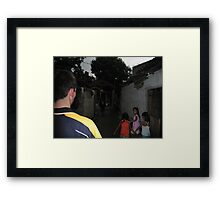 Children and Teenagers Framed Print